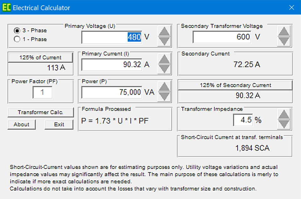 Electrical Calculation Software