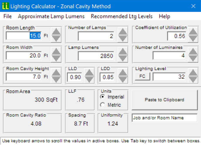 Lighting Level Calculation Software